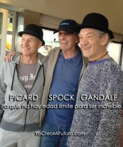 Picard, Spock, Gandalf. Porque no hay edad límite para ser increíble.