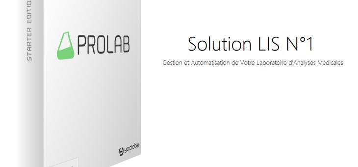 Disponibilité de notre Solution de Gestion de Laboratoire d'Analyses médicales PROLAB LIS