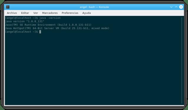 Versión de Java