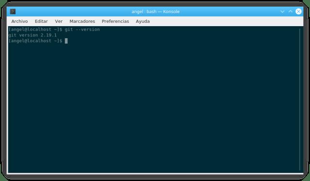 Versión de Git