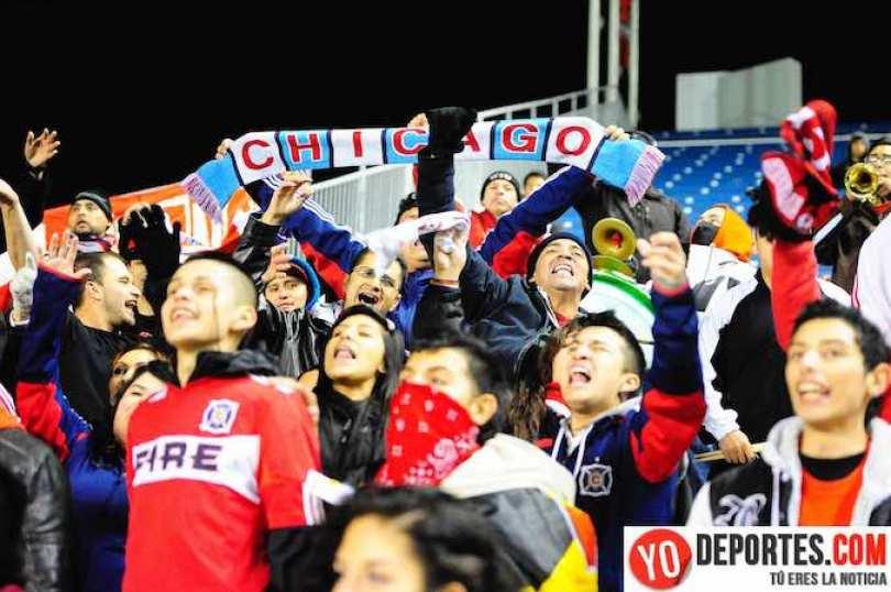 La porra Sector Latino acude a todos los juegos del Chicago Fire para apoyarlos.