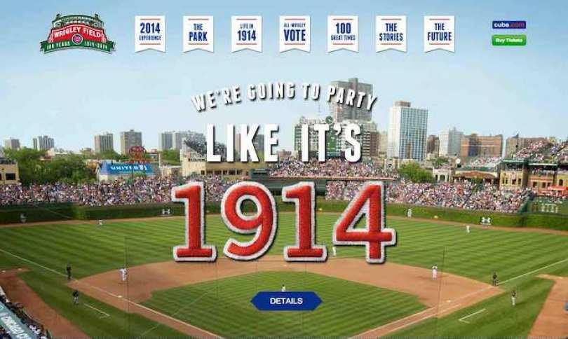 """La página web WrigleyField100.com es un """"museo"""" online de la historia de este legendario estadio de béisbol que cumple 100 años de vida este 2014."""