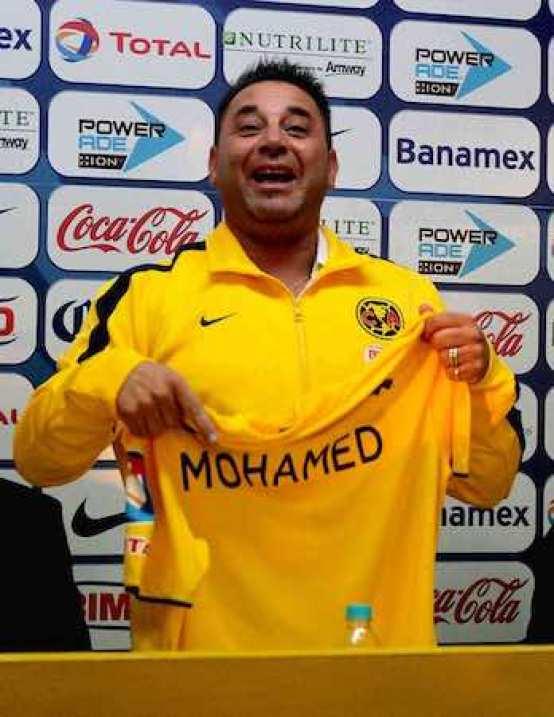 El técnico del América, Antonio Mohamed.