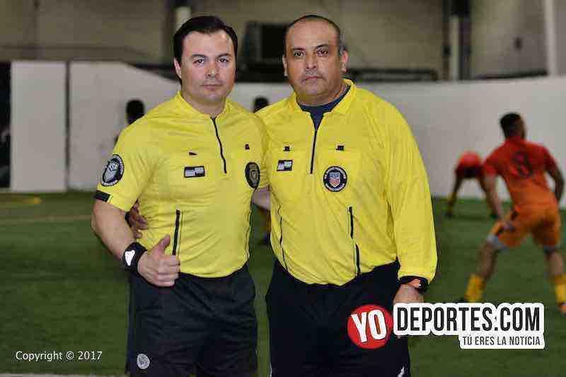 Arbitros Enrique Benitez-Carlos de Luna-Honduras-Red Fire B-Final-5 de Mayo Soccer League