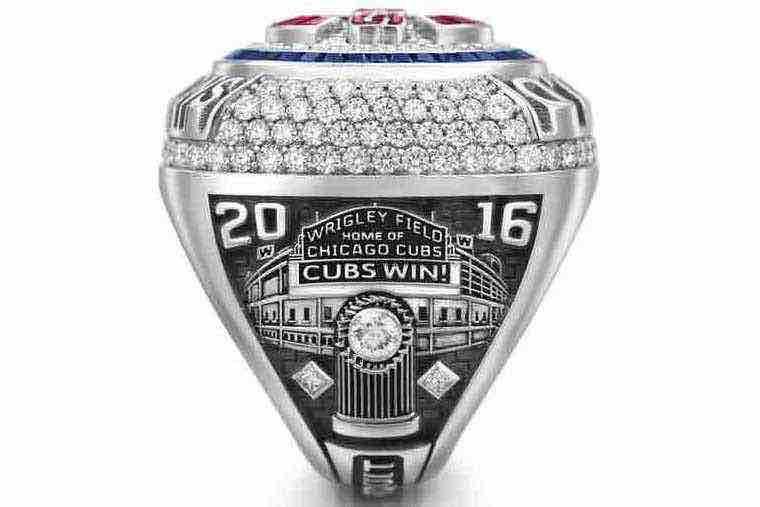 Cachorros de Chicago Cubs World Series anillo