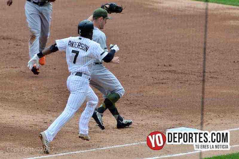 Tim Anderson-White Sox-Tigres Detroit-Medias Blancas