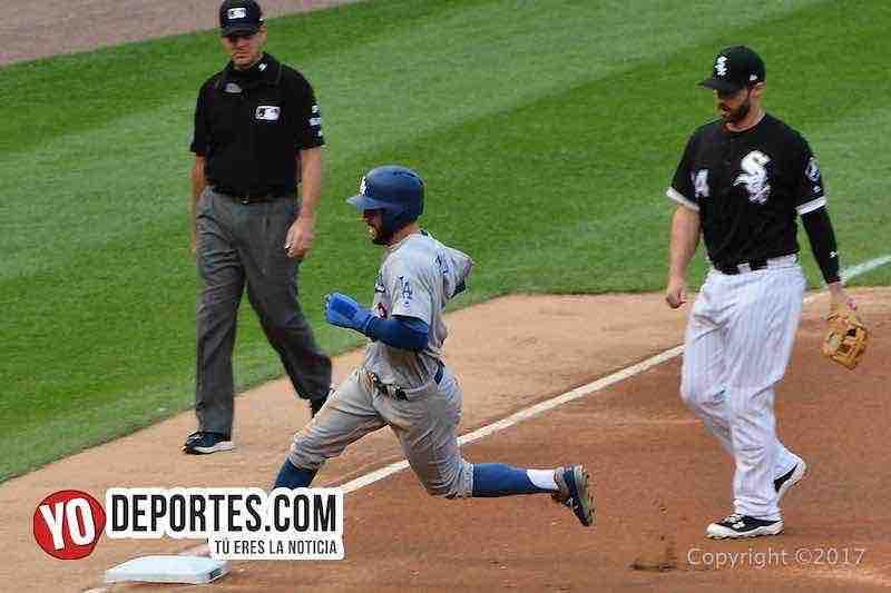 Chris Taylor-Medias Blancas-White Sox-Dodgers