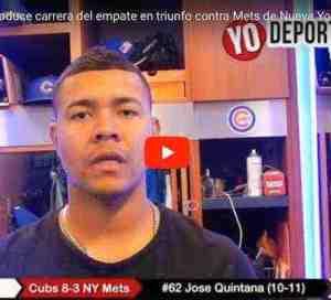 José Quintana produce carrera del empate en triunfo ante los Mets de Nueva York