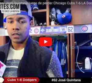 José Quintana dice no hay mañana para Cachorros casi eliminados por Dodgers