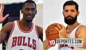 Bobby Portis y Nikola Mirotic de los Bulls de Chicago.