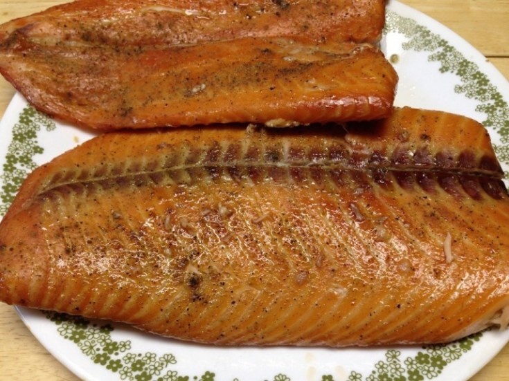 Smoked Salmon on the YS1500 Pellet Cooker