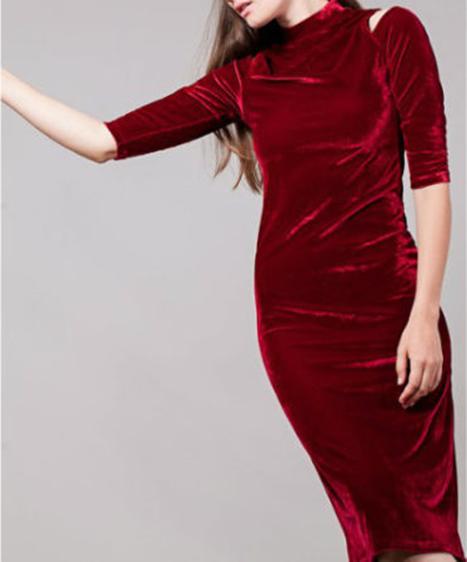 vestido terciopelo burdeos2
