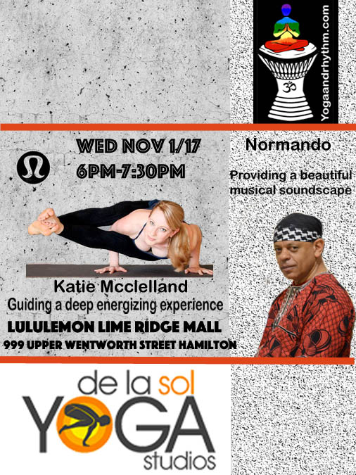 Lululemon Lime Ridge Mall Hamilton Wed Nov 1/17 6pm-7:30pm