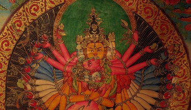Thangka Detail of Shiva & Shakti