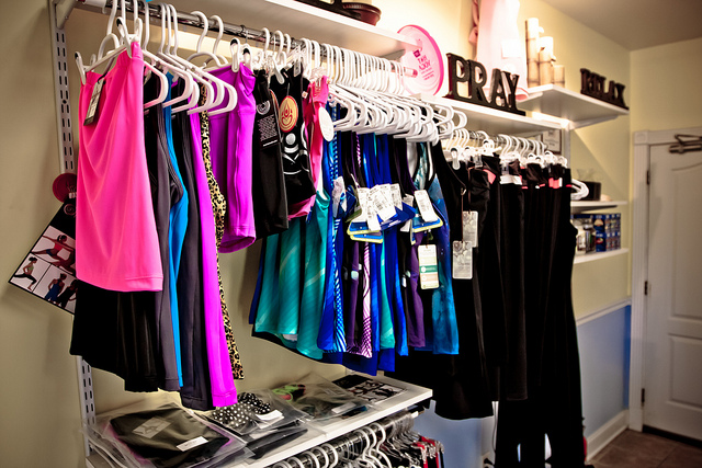 yoga clothes in store
