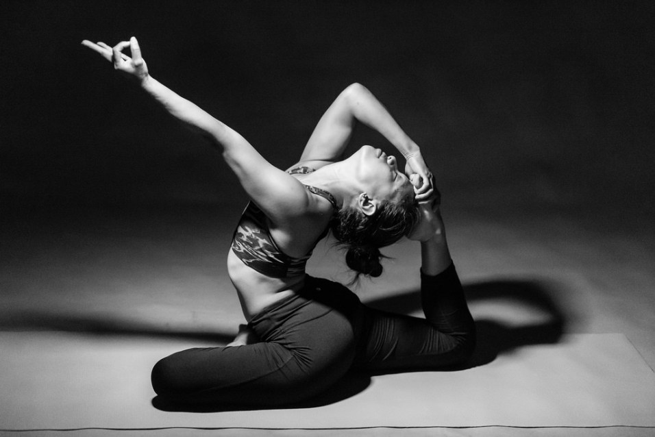 letting go in yoga pose