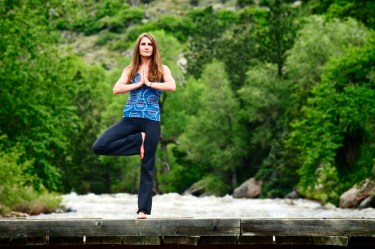 eco yoga outdoors