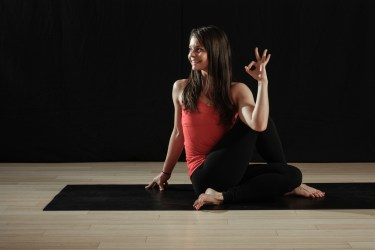 yoga twist pose