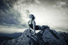 yoga woman Balancing Tamas Guna with yoga pose