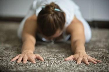 yoga on carpet