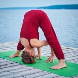 morning yoga pose