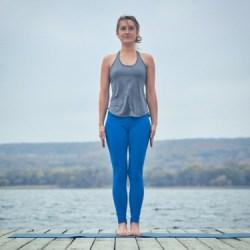 morning yoga pose mountain