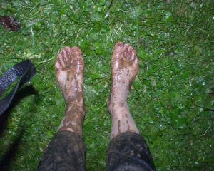 tak wygladały nogi po Indiańskich w ulewnym deszczu-B.Woda