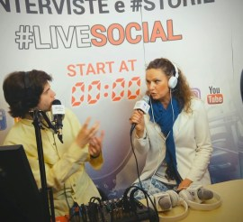 claudia beggiato intervista live social