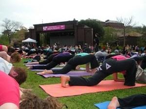yoga at tidal basin