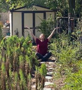 Johanna in the garden