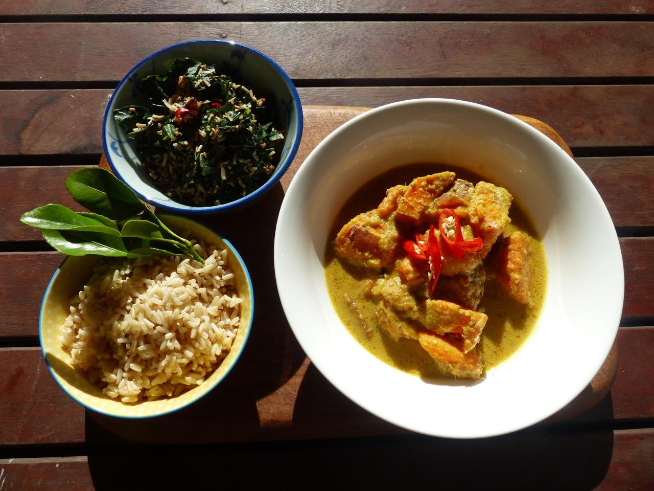 Rice sweet potato curry 1