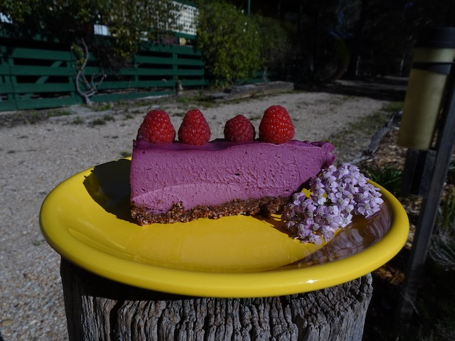 Boysenberry and Lime Raw Cake