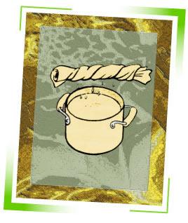 washcloth and ginger pot