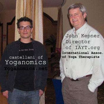 Brian Castellani and John Kepner of IAYT International Association of Yoga Therapists