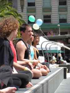 Darren Main at Yoga For Hope, 2010