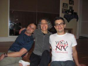 Brian Castellani with yoga friends at the Yoga Loft Teacher Training
