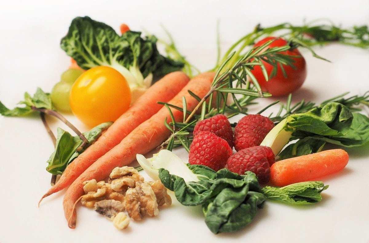 vegetables, fruits, food