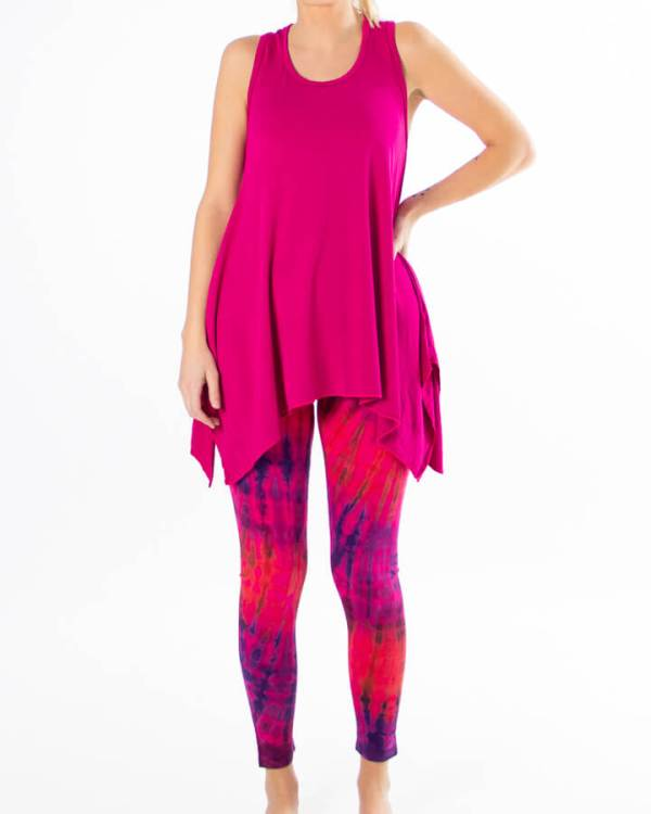 Yoga tights og topp - Rosa