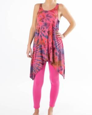 Rosa sett med batikk - Yoga sett