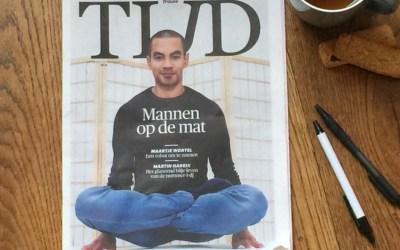 'Ook de man zoekt verdieping op de yogamat'