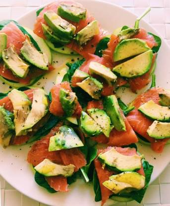 my favourite salmon and avocado salad
