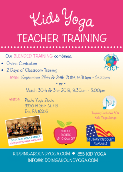 Erie Pennsylvania Kids Yoga Training