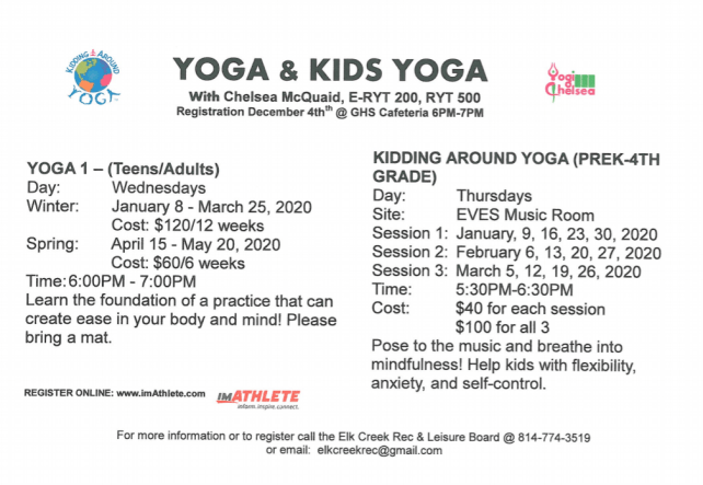 Elk Creek Rec Yoga Winter