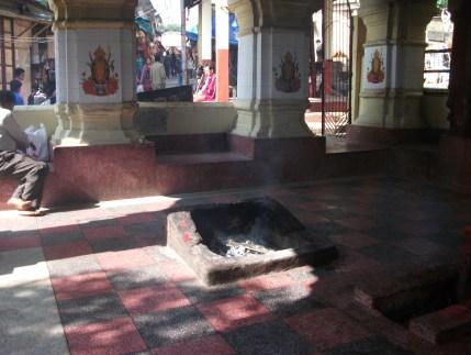 Sacred Homa Inside Kali Temple