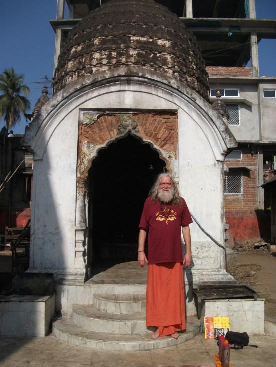 Swami Ayyappa outside Tara temple at Kamakya