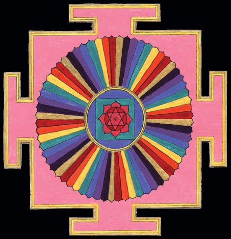 03 64 Yogini Yantra in Color