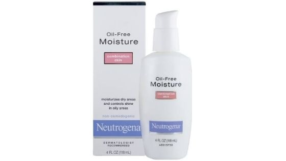 Neutrogena Oil free Moisture for combination skin - Top 10 Best Moisturizer for Oily Skin in India