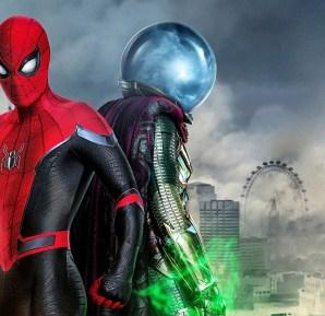 Spider-Man and Mysterio movie promo image