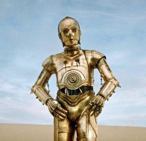 Star Wars publicity still of C3P0