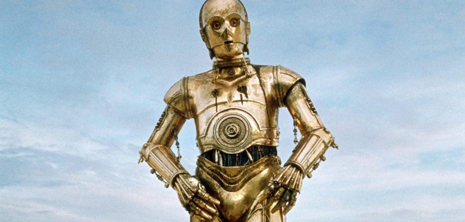 Star Wars publicity still of C3P0